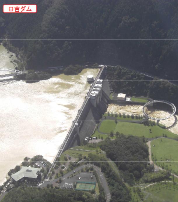 台風18号日吉ダム